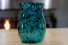Beautiful turquoise Gratitude Jar