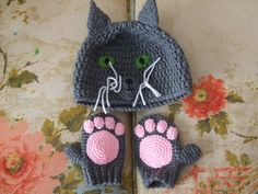 cat crochet hat pattern