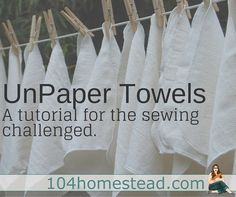 These reusable paper towels don't even require sewing in a straight line!