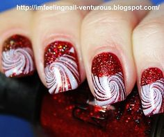 Candy Cane Christmas Nail Art For Short Nails - Cute Christmas Nail Art For Short Nails     Enter the #ManiCure Pinterest Sweeps for a chance to WIN a one year supply of #Suave & #Qtips products OR a $500 gift card for a day of beauty and style! No pur nec. Must be 18+. Ends 10/10/13. Click for details.