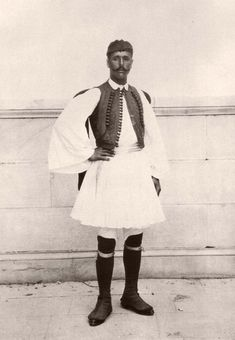 Spyros Louis, the first Marathon race winner, in a traditional clothing during the first Olympic Games. Greece Maraton segraren 1896 i Aten. Vintage Photographs, Vintage Photos, Olympic Marathon, Greek Dress, Rare Historical Photos, First Marathon, Greek Culture, Greek Art, Ancient Greece
