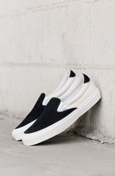 90bc7fcdb9 Vans Vault OG Slip-On 59 LX In Black Marshmallow  Vans  VansVault  SlipOn   Fashion  Streetwear  Style  Urban  Lookbook  Photography  Footwear   Sneakers ...