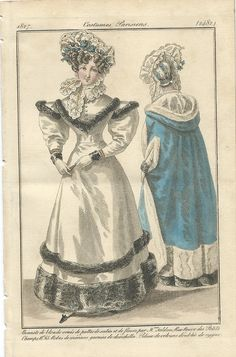 Period Costumes, Antique Prints, Fashion Plates, Hand Coloring, Photos, Pictures, The Twenties, Dame, Collars