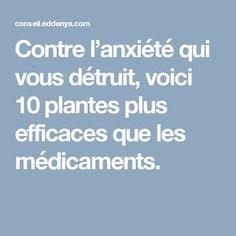 Contre l'anxiété qui vous détruit, voici 10 plantes plus efficaces que les médicaments.
