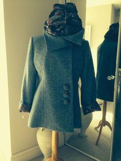 Harris Tweed Ladies jacket with matching scarf