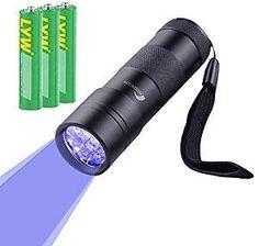 Moobom 12 LED Pet UV Light Urine Stain Detector Blacklight Flashlight