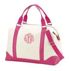 Monogrammed Pink Sullivan Weekender Bag - The Pink Lily Boutique