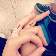 30 Simple Tattoos for Women and Girls Simple Couples Tattoos, Simple Tattoos For Women, Couples Tattoo Designs, Tattoo Designs For Girls, Couple Tattoos, Design Tattoos, Love Finger Tattoo, Ring Finger Tattoos, Love Quote Tattoos