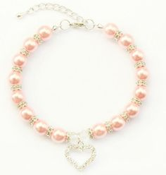 Handmade Pearl Dog Cat Jewelry Necklace