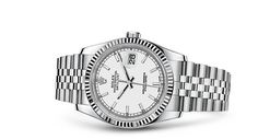 Rolex Datejust II 36mm Fluted Bezel White Dial