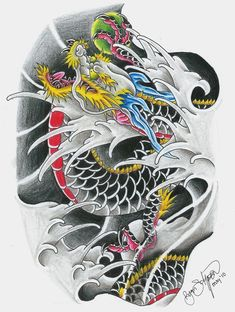 Ladys and Genltemen, I give you a Chinese Dragon. I also have the coloured in version. For a video tutorial on how to draw a dragon like this click here