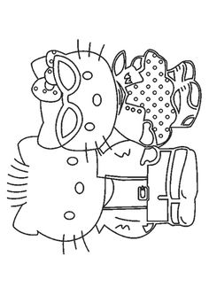 25 Cute Hello Kitty Coloring Pages Your Toddler Will Love