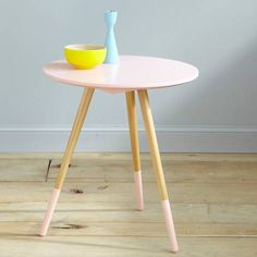 "Pastel coffee table ""Mango and Salt Buffet Trois suisses"" Pastel Room, Deco Retro, Decoration, Home Projects, Table, Kids Room, Stool, Design Inspiration, Dekoration"