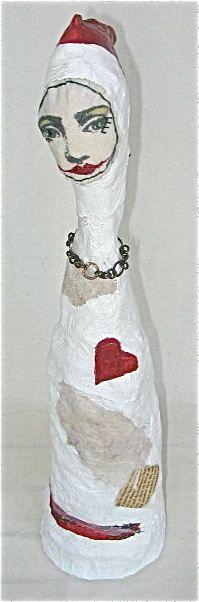 Queen of Hope with Red Heart Original by BebeTheCircusQueen