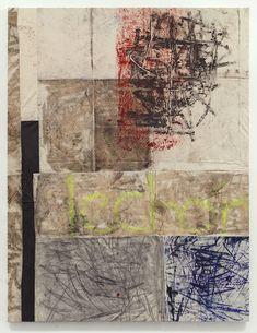 Oscar Murillo - untitled 2013, Oil paint, oil stick, dirt, 250 x 195 cm