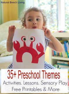 A year of Preschool Themes with activities, lessons, free printables, ideas, hands on learning, books, Sensory and so much more www.naturalbeachliving.com