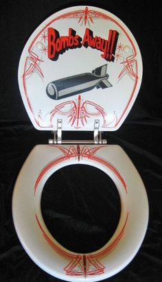 This design of toilet seat failed to sell in the shops : - ie = It totally BOMBED !! So the designer is now in the SHITE ps sorry this pin is CRAP ‼️💩👍