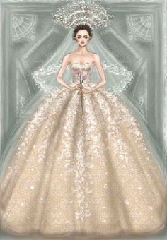New fashion sketches wedding haute couture Ideas Dress Illustration, Fashion Illustration Dresses, Fashion Illustrations, Fashion Design Drawings, Fashion Sketches, Wedding Dress Sketches, Wedding Dresses, Manequin, Dress Drawing