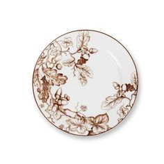 Plymouth Appetizer Plates, Set of 4, Brown