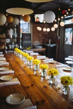 A Hip and Stylish Atlanta Restaurant Wedding by Val and Sarah - Wedding Party