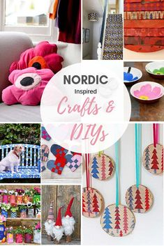 A unique collection of Scandinavian and Nordic crafts many of them inspired by the icon Finnish design company Marimekko.  #nordic #scandinaviancrafts