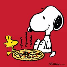 Pizza and the Peanuts Gang!!