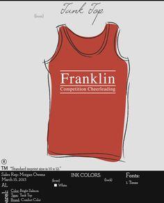 Franklin High School Cheer tanks #custom #design #cheer #tank