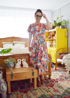 Sukienka z falbanami uszyta z Burda 05/2019 model #108 Burda Patterns, Short Sleeve Dresses, Dresses With Sleeves, Blog, Summer Dresses, Model, Diy, Fashion, Moda