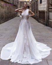 Loverxu Elegant Sweetheart One Shoulder A Line Wedding Dresse 2016 Sexy Appliques Sashes Bohemain Vestidos De Novia Plus Size(China (Mainland))