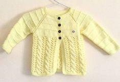 Free Knitting Pattern for a Lemon Swing Kids Jacket for 3 to 5 year olds. Free Childrens Knitting Patterns, Beginner Knitting Patterns, Knitting For Kids, Free Knitting, Knitting Paterns, Knitting Projects, Baby Cardigan Knitting Pattern, Sweater Patterns, Knit Patterns