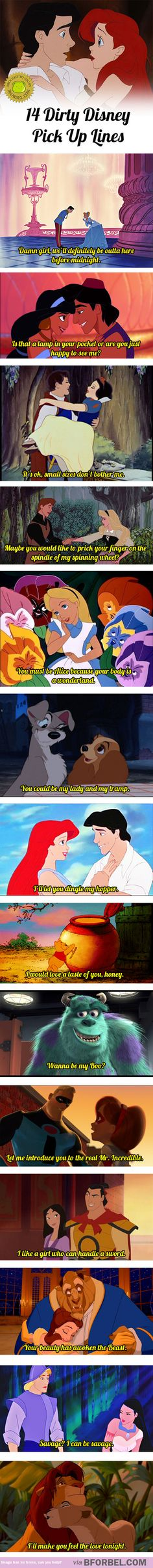 14 Dirty Disney Pick Up Lines…