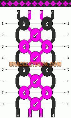 Normal Friendship Bracelet Pattern #3658 - BraceletBook.com