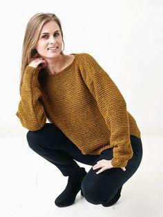 Strikkeopskrift: Retstrikket sweater