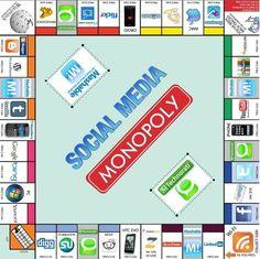¿Qué opinan de este monopolio del Social Media???     Monopoly social-media best social media companies