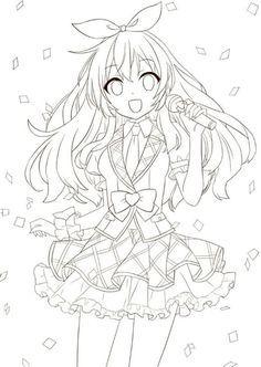 Resultado de imagem para anime para colorir