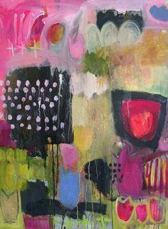Annie O'Brien Gonzales- flower art, floral paintings, bold expressive florals