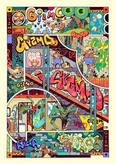 Gyzmo Adventures on Behance Flat Illustration, Character Illustration, Different Art Styles, Color Shapes, Doodle Art, Art Inspo, Art Reference, Graffiti, Character Design