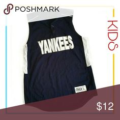 Yankees Jersey 2 Button  Back has a number 7 on it Youth Large High Five Shirts & Tops Tank Tops