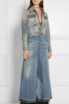 Roberto Cavalli | Stretch-denim coat | NET-A-PORTER.COM