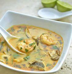 Soupe Thaï au lait de coco et aux crevettes avec thermomix. Voici une recette de Soupe Thaï au lait de coco et aux crevettes, facile et simple a réaliser.