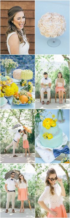 60s Inspired Pastel Engagement Photo Shoot filled with loads of cute photo ideas and pretty props! - Pic: Taylor Abeel Photography