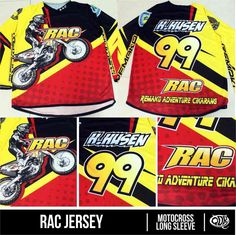 Motocross Jersey Sublimation Print RAC