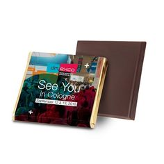 Our Belgian chocolate squares can be fully personalized with your logo and design. With many different flavor options and a digitally printed full color wrapper, these chocolate squares are great for promotions, office treats, or thank you gifts.