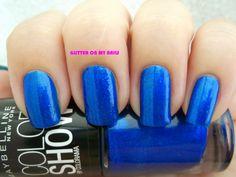 GLITTER ON MY NAILS: OCEAN BLUE @Maybelline