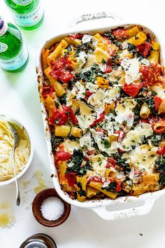 Baked Rigatoni Sausage and Spinach | Real Food by Dad