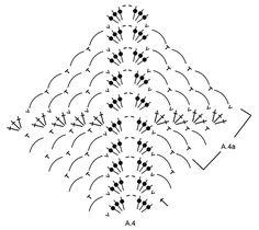"""Loren - Gehaakte DROPS omslagdoek met kanten lussen en waaiers, wordt van boven naar beneden gehaakt van """"Delight"""". - Free pattern by DROPS Design"""