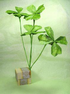 Origami Leaves, Origami Flowers, Madrigal, David, Green, Leaves, Origami Flower, Flowers