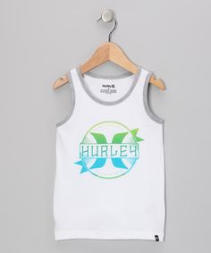 Take a look at this Hurley White Shank Tank - Boys on zulily today!