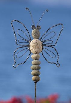 Butterfly Stake - Wire & Stone by gardenartisans.us
