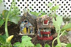 Diary of a Crafty Lady: Fairy Houses: A Fun Summer Project